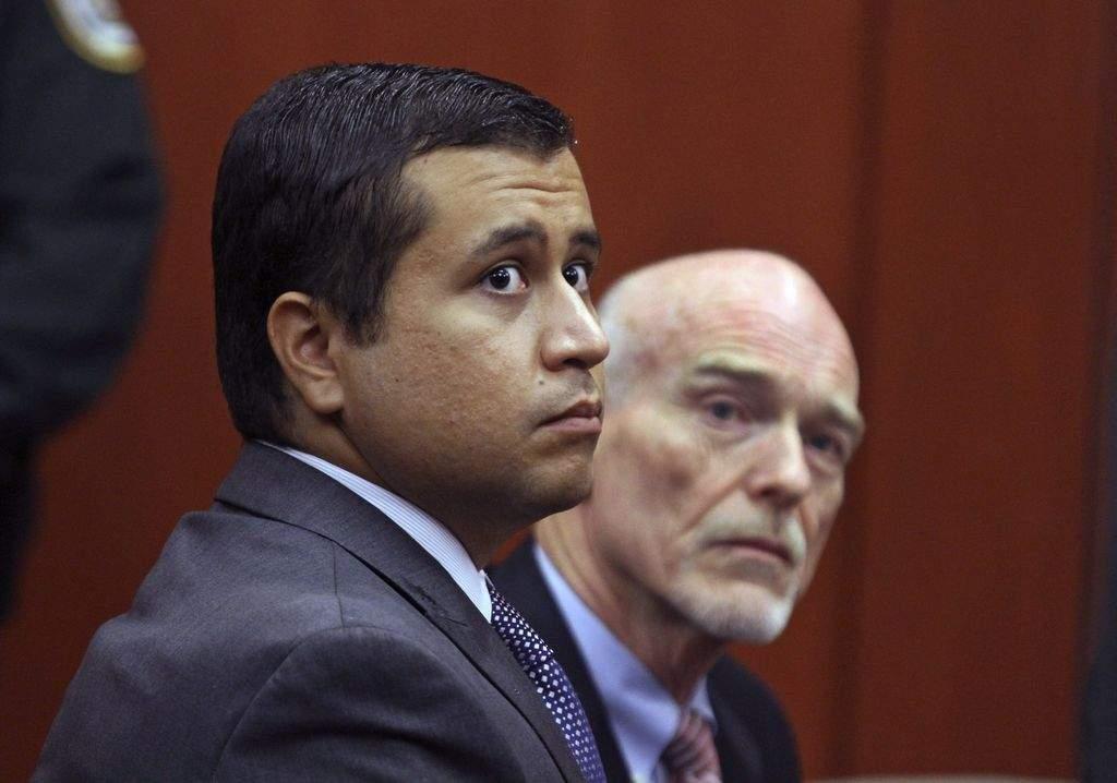 George Zimmerman junto a su abogado Don West, durante la audiencia en la corte.