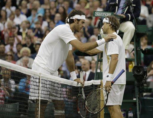 Ferrer elimina a Del Potro y avanza en Wimbledon
