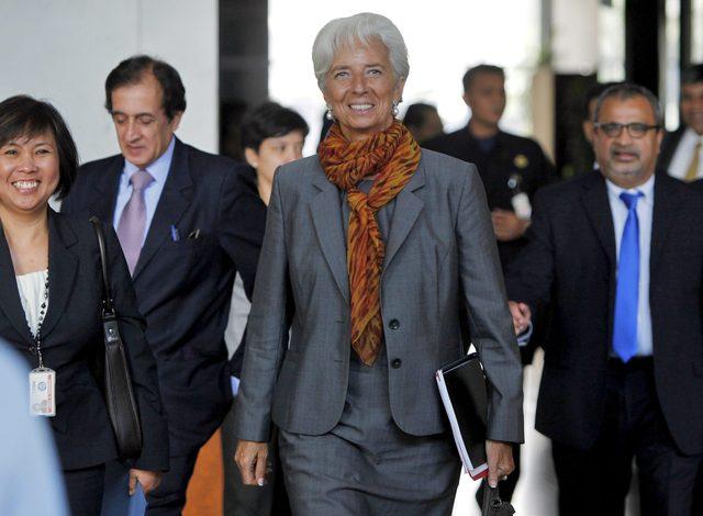 Christine Lagarde, titular del Fondo Monetario Internacional, durante una visita reciente a Asia.