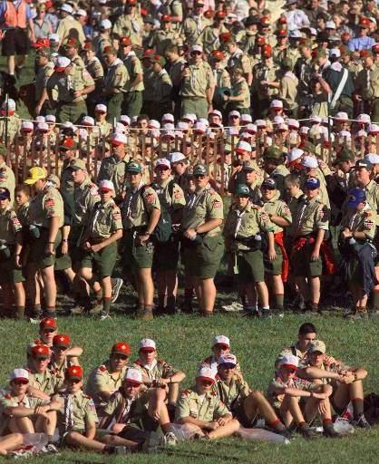 Un encuentro nacional de Boy Scouts.
