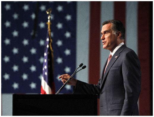 El virtual candidato presidencial republicano Mitt Romney.