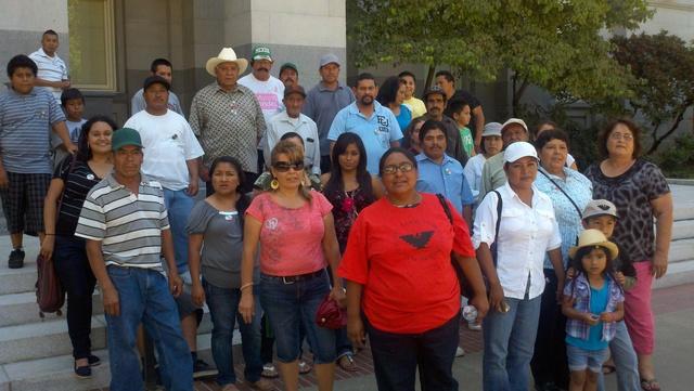 Protestan los trabajadores agrícolas en California