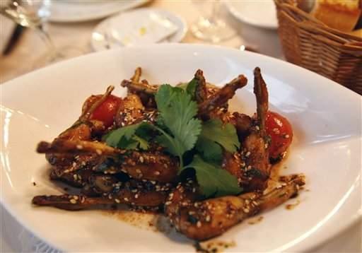 Ancas de rana son un manjar exquisito para muchos