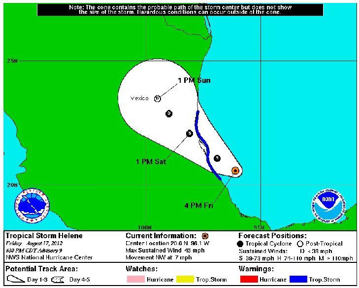 Helene amenaza costa este de México