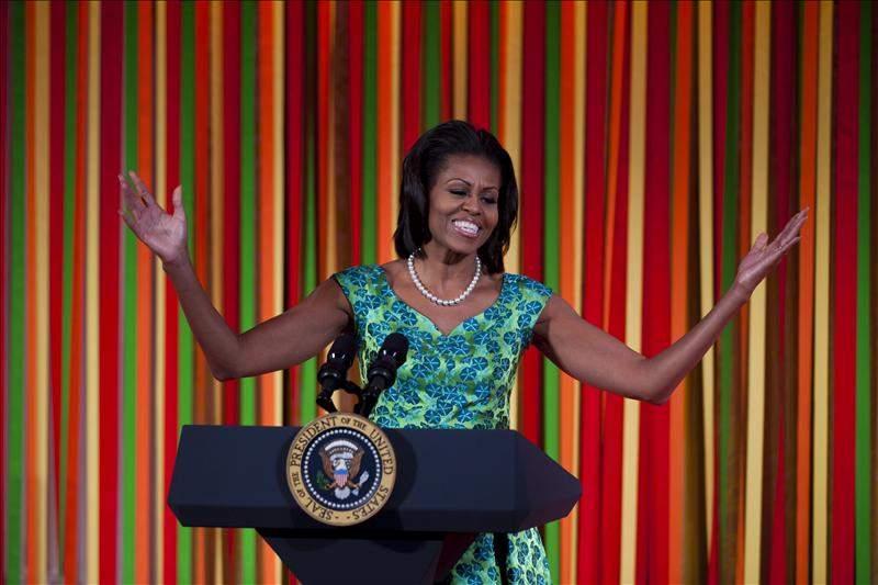 Michelle Obama visita a niños deportistas