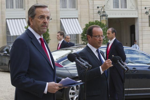 Grecia debe estar en eurozona: Hollande Hollande: Grecia debe seguir en la eurozona