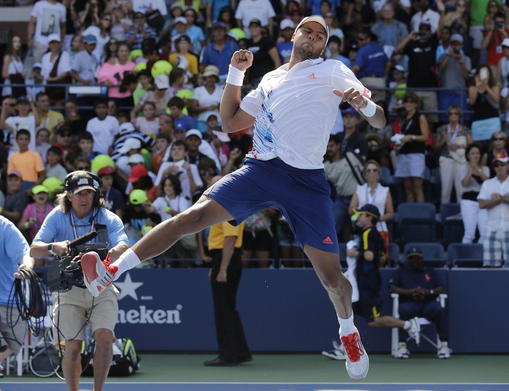 US Open: Tsonga muestra su pegada