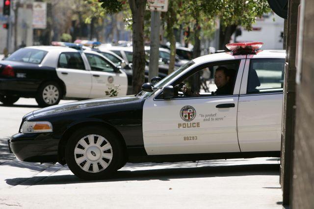 Una patrulla de LAPD.