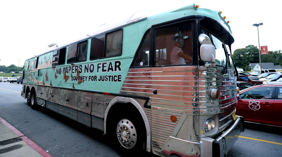 El 'Undocubus' llega a Carolina del Norte
