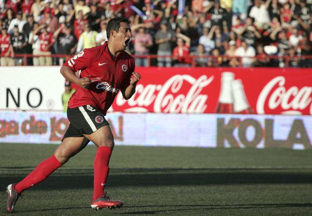 El jugador de Xolos de Tijuana Alfredo Moreno.