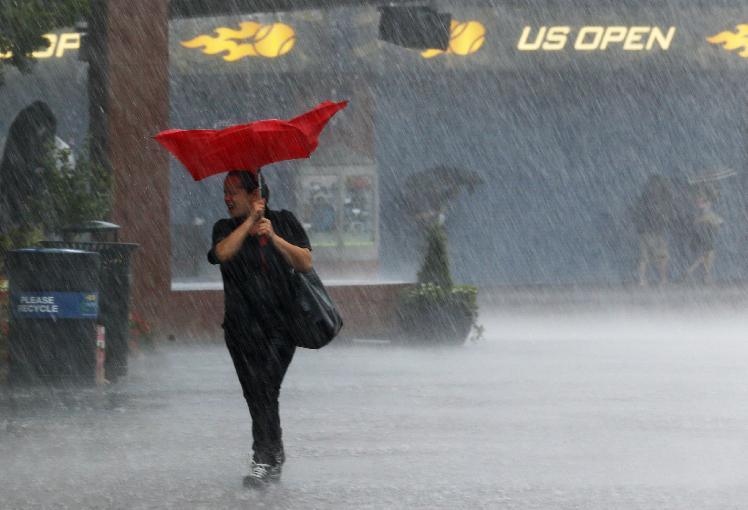 """Tormentas y """"tornado"""" en NY afectan hasta el US Open (Fotos y video)"""
