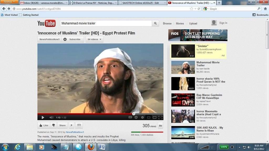 Mira el video de Mahoma por el que mataron a embajador de EEUU