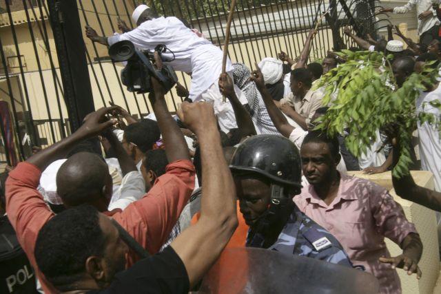 3 muertos en choques de Embajada EEUU en Sudán (Fotos)