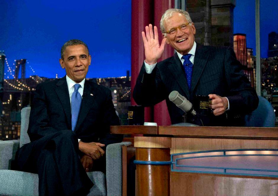 Obama visita a David Letterman [Fotos & Video]