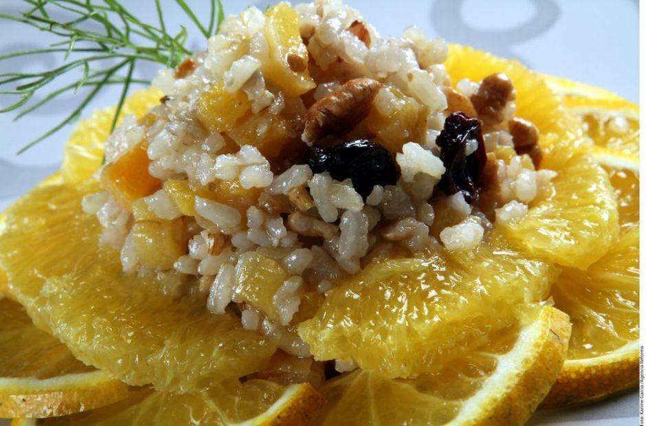 Receta: Ensalada de cítricos y arroz