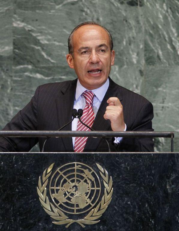 Calderón exige a ONU alternativas para reducir consumo de drogas (Fotos)