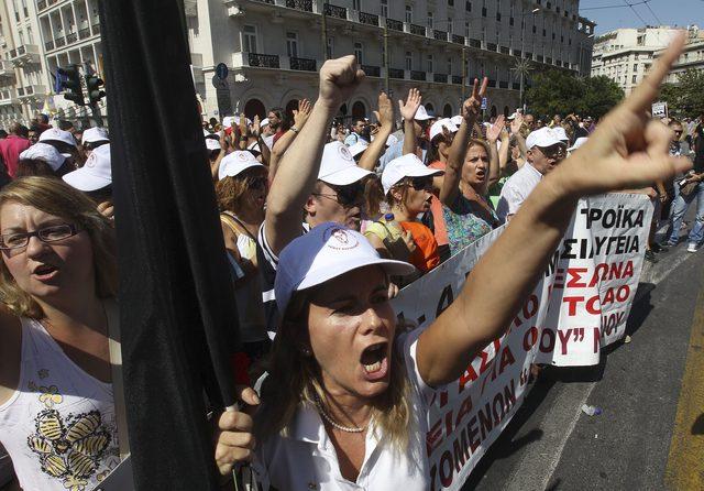 Protestan en Grecia