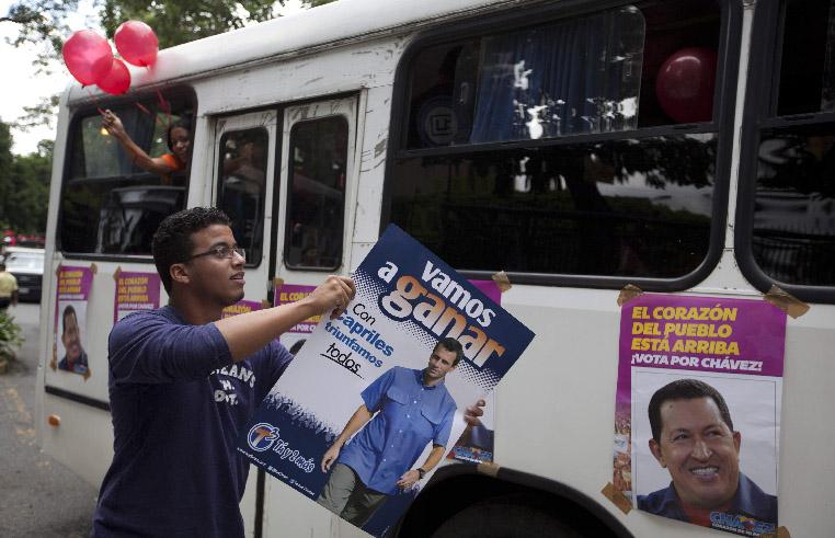 Críticas a Chávez dominan último tramo de campaña (Fotos)