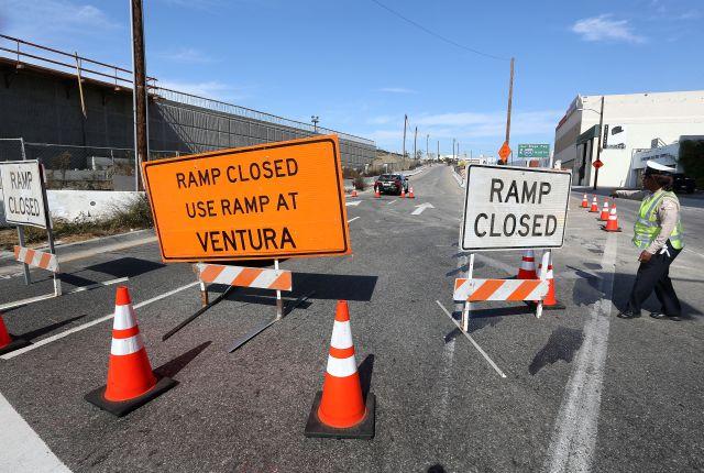 Un trabajador muere en accidente en la autopista 405