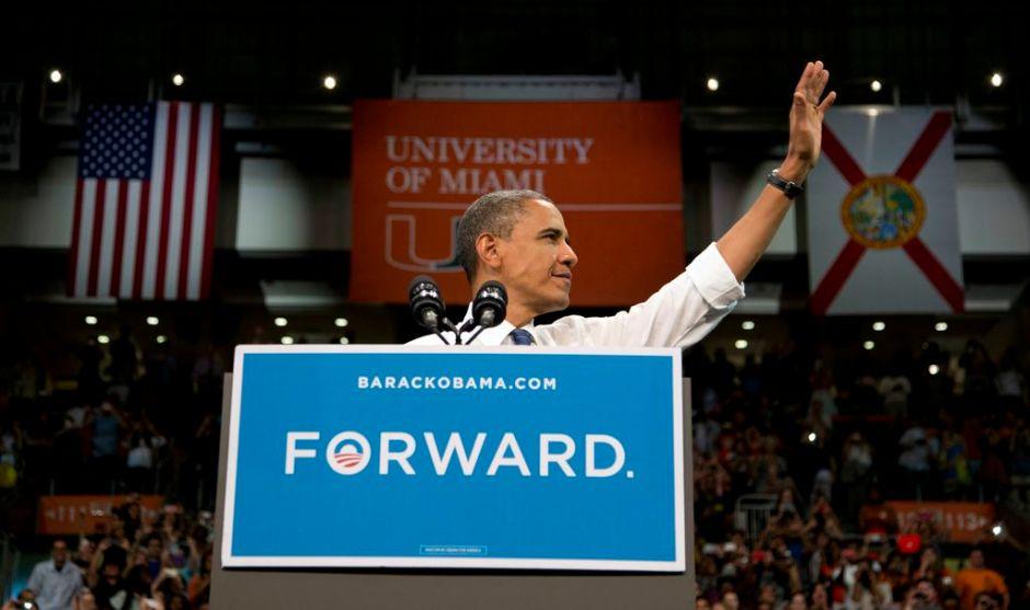 Obama pide voto en Florida (Fotos)