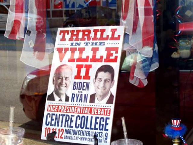 Danville preparada para debate vicepresidencial [Fotos]