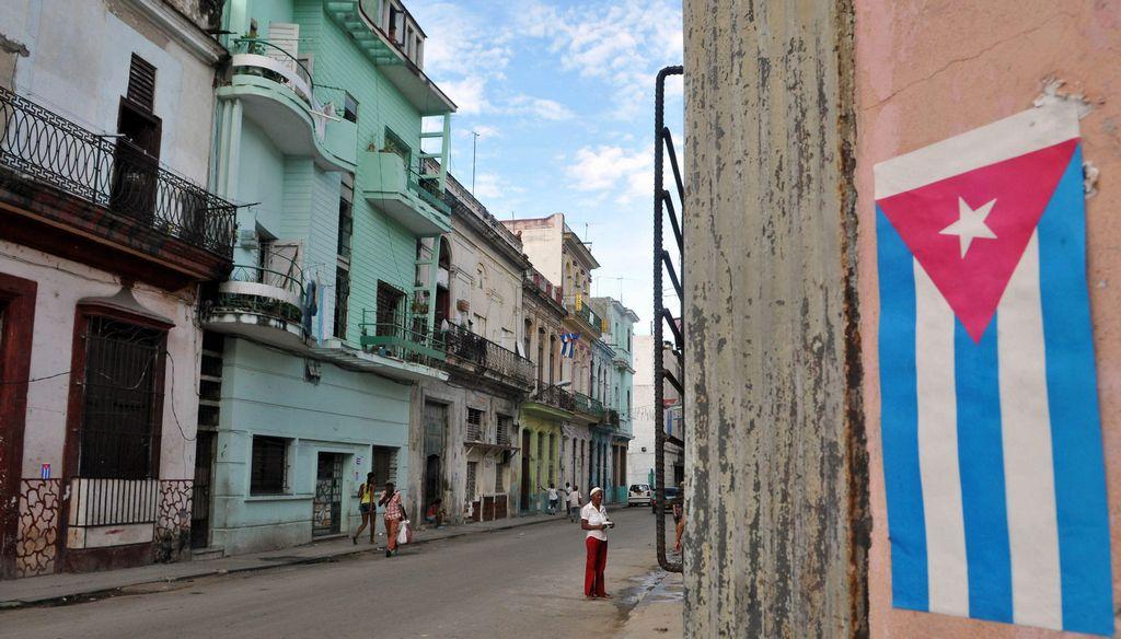 Vista de las fachadas de varias viviendas en La Habana, Cuba.