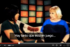Michelle Obama a Saralegui:  el voto latino es crítico [Video]