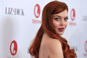 Lindsay Lohan deslumbró en la alfombra roja