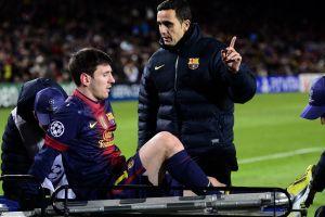 Pruebas médicas descartan lesión grave de Messi