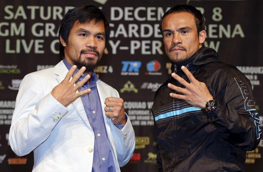 Pacquiao y Márquez se dicen listos para otra guerra en el ring el próximo sábado.
