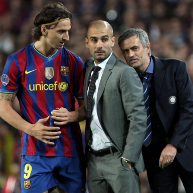 'Ibra' y Guardiola no tuvieron una buena relación en Barcelona.