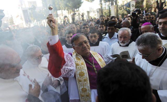 Belén recibe a Patriarca Latino horas antes de la Navidad (Fotos)
