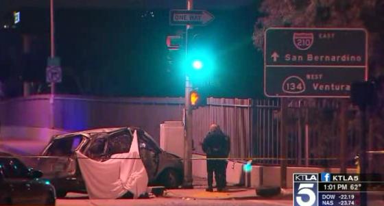 Dos personas fallecidas durante persecución policial en Pasadena (Video)