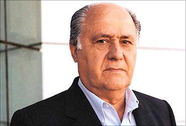 Fortuna de Amancio Ortega todavía no opaca la de Carlos Slim