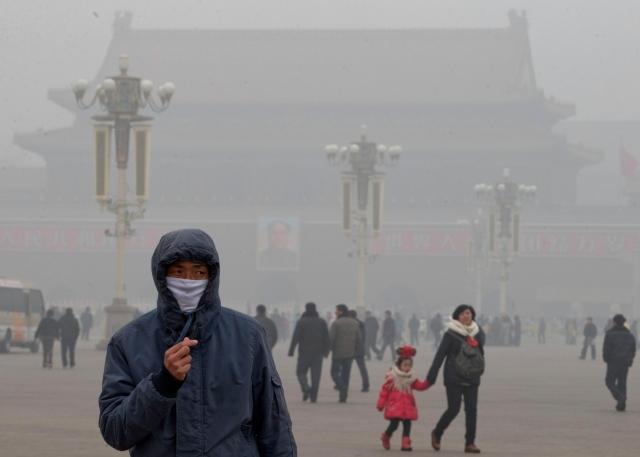 China cubierta de smog