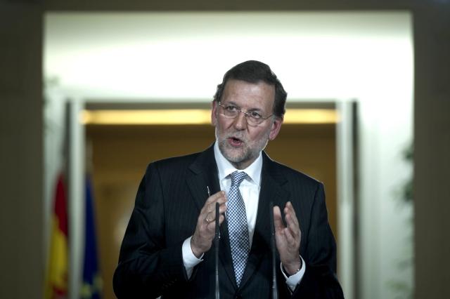 El presidente del Gobierno, Mariano Rajoy, en rueda de prensa, ayer, tras presidir última reunión del Consejo de Ministros.