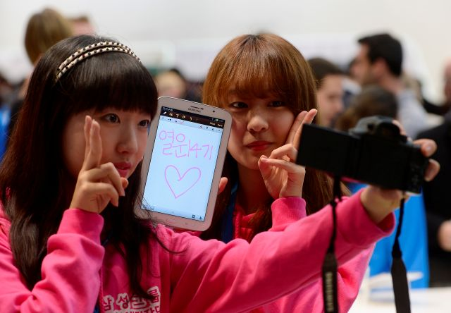 Samsung llega a MWC con Galaxy Note 8.0 (Fotos)