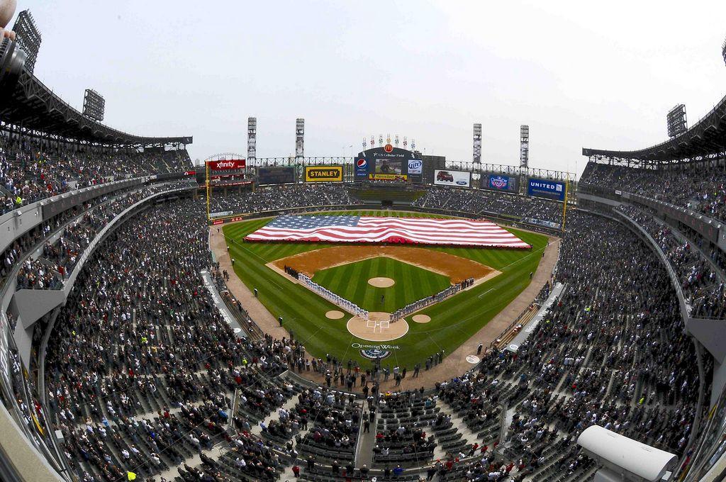 El estadio de los White Sox en su máximo esplendor.