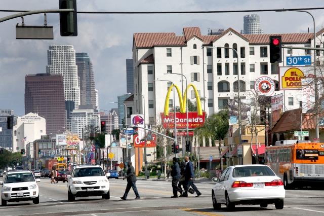 El centro visto desde el corredor Figueroa en el Distrito 9, que históricamente ha estado representado en el Concejo por un afroamericano.