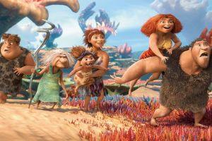 Familia de cavernícolas en la pantalla grande (Fotos y video)