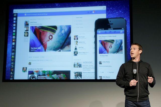 El CEO de Facebook, Mark Zuckerberg, durante el lanzamiento del rediseño de la página web.