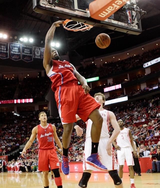 DeAndre Jordan encesta para los Clippers sobre los   Rockets.