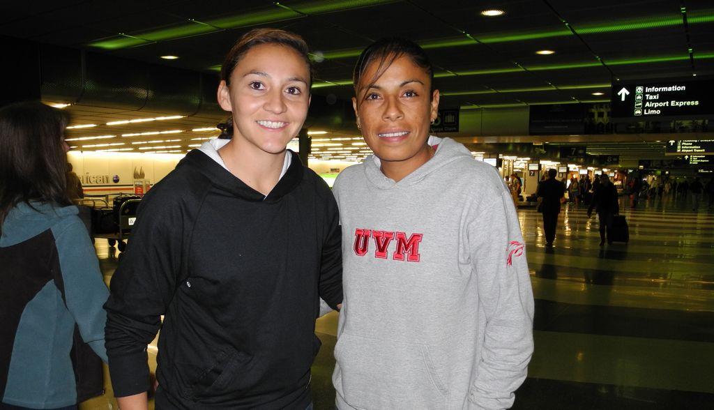 """Las mundialistas mexicanas Dinora Lizeth Garza y Maribel  """"Marigol"""" Domínguez se reportaron con su  equipo Chicago Red Stars."""
