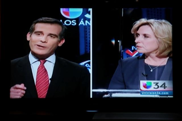 Garcetti y Greuel enfocados en atraer  voto latino