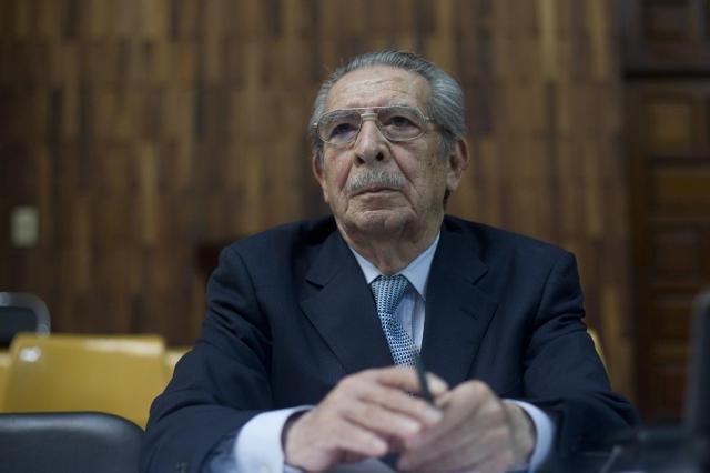 El exgeneral golpista José Efraín Ríos Montt.
