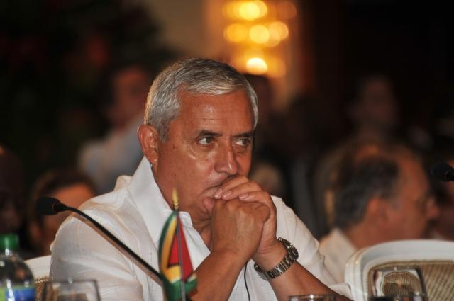 El presidente de Guatemala, Otto Pérez Molina, ayer.