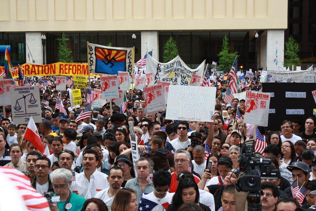 Imagen de una de las marchas de 2010 en Chicago.