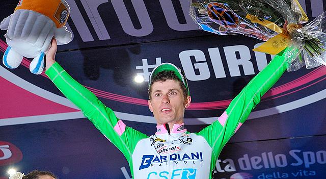 Enrico Battaglin se lleva el cuarto sprint en el Giro de Italia.