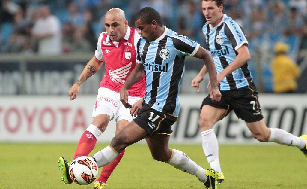 Gremio ya entrena en Bogotá para duelo en Libertadores