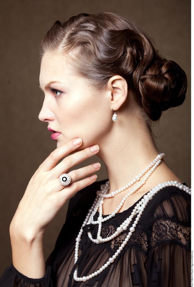 Las perlas imprimen  un estilo clásico y sofisticado.